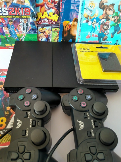 Playstation 2 Slim + 2 Controles , Jogos , Memory Card
