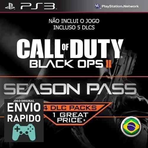 Season Pass Call Of Duty Black Ops 2 Inclui 5 Dlcs Jogos Ps3