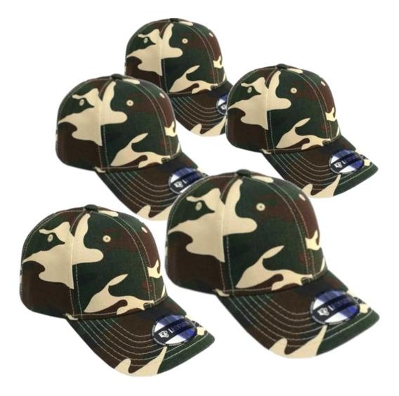 Promoção Bonés Camuflados Aba Curva Leopard Combo 5 Unid