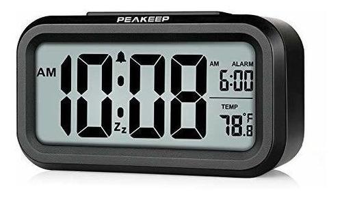 Peakeep Reloj Despertador Digital Con Luz Nocturna Inteligen