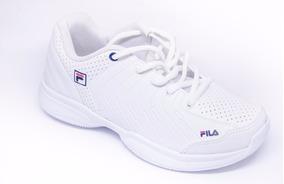8b1cf171650 Tênis Para Jogar Tênis Fila Lugano Infantil Branco