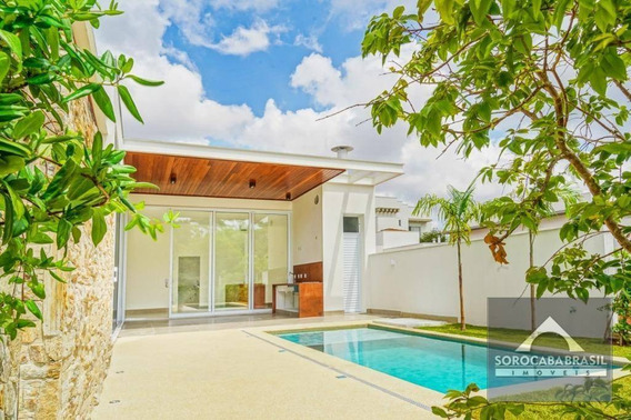 Casa Com 4 Dormitórios À Venda, 300 M² Por R$ 1.950.000 - Condomínio Residencial Giverny - Sorocaba/sp, Próximo Ao Shopping Iguatemi. - Ca0083