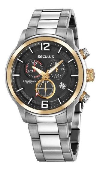 Relógio Seculus Masculino Multifunção 13040gosvna1