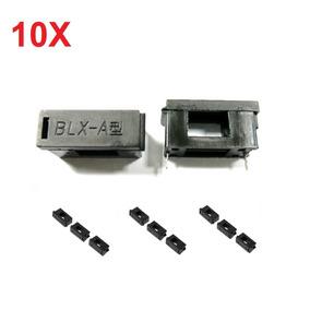 Kit 10 Porta Fusível Para Placa 5x20mm Tipo Blx-a