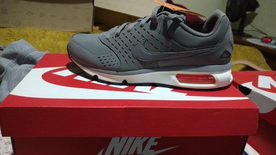 Nike Air Max Solace Ltr Cinza Couro Tam 41 9,5 Original