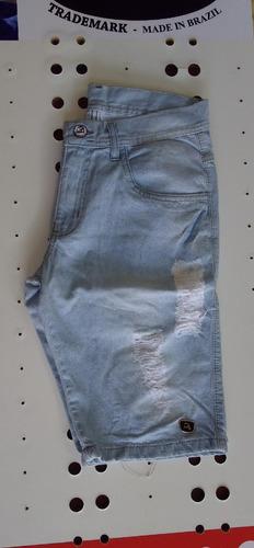 Imagem 1 de 3 de Bermuda Jeans Bomber Delave