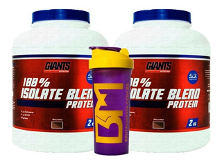 Kit Ganho De Massa Isolate Blend Giants Nutrition + Brinde