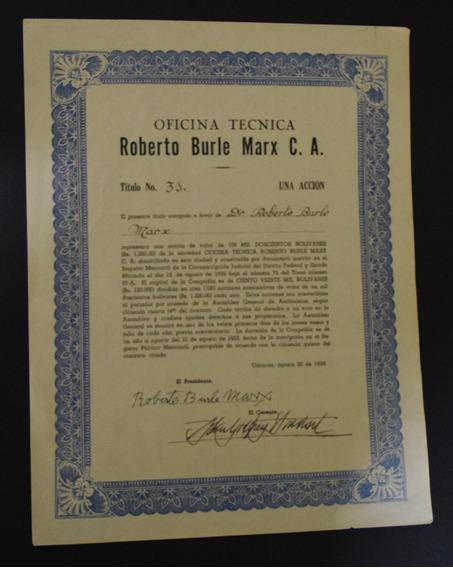 Ação Da Empresa De Roberto Burle Marx