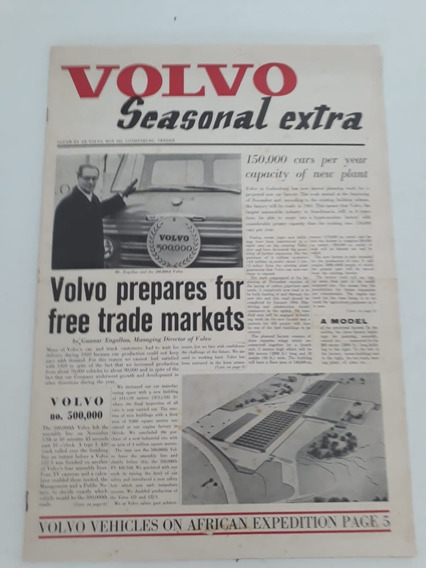 Livreto Jornal Antigo Seasonal Extra Notícias Volvo