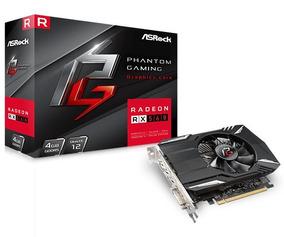Placa De Vídeo Radeon Asrock Rx560 4gb Gddr5 Rx 560 Amd Ati