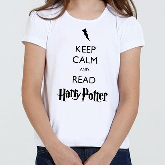 Camiseta Infantil Feminina - Keep Calm And Read Harry Potter