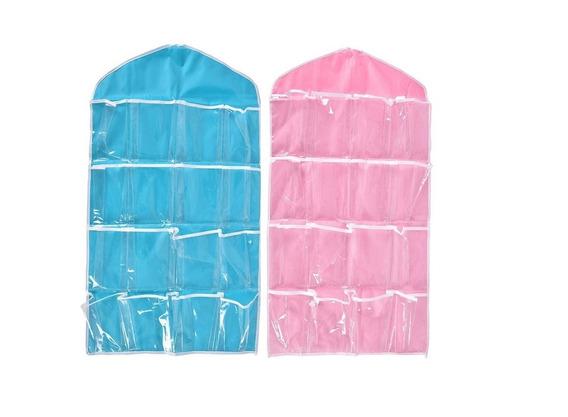Organizador Meia Lápis Caneta Brinquedo Azul Ou Rosa 1 Pç