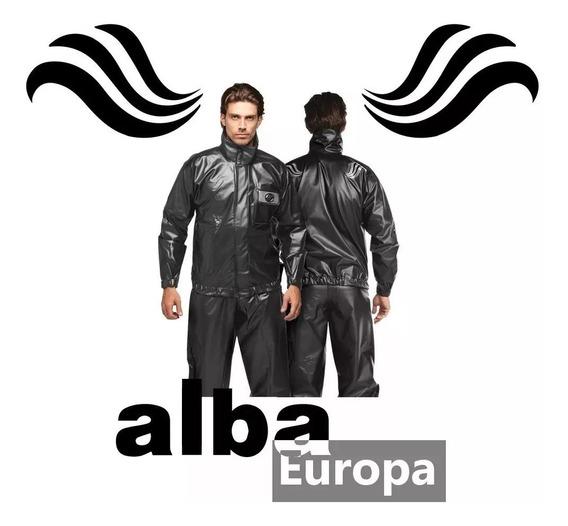 Conjunto Chuva Alba Europa 100% Impermeável Motoqueiro