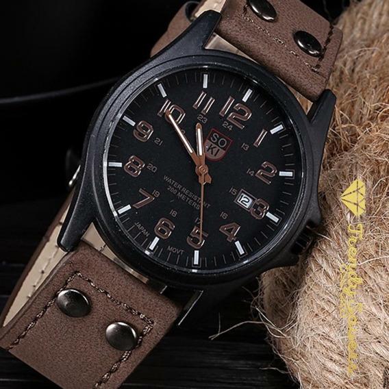 Reloj Analogico Para Hombre | Pulcera De Cuero