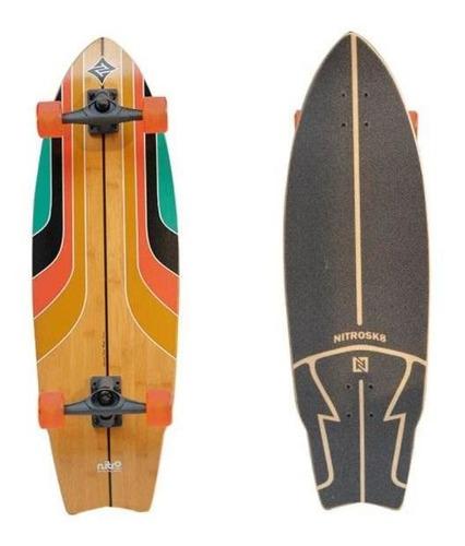 Imagem 1 de 2 de Simulador De Surf Skate Rainbow Surf - 34`x10` Nitrosk8