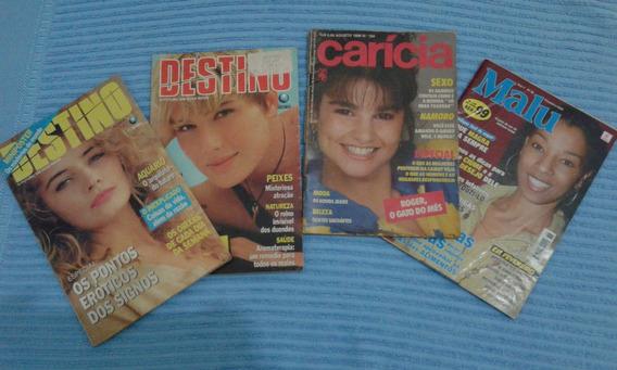 Lote De Revistas Antigas Destino Malu Caricia Anos 80