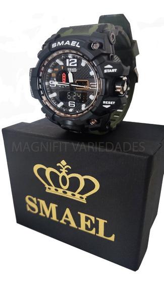 Relógio Smael 1545 Camuflado Original Militar Prova D´ Água