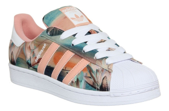 Tênis adidas Farm Superstar Shell Flower Print Pink