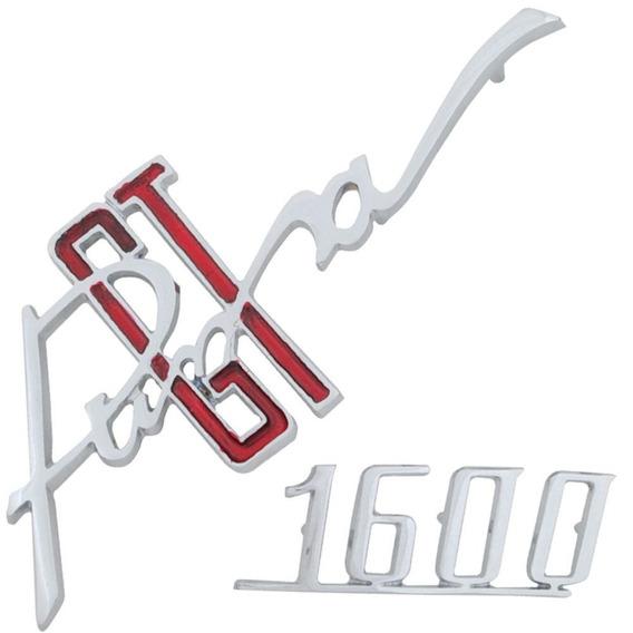 Emblema Metal Cromado Tampa Traseira Motor Puma Gt 1600