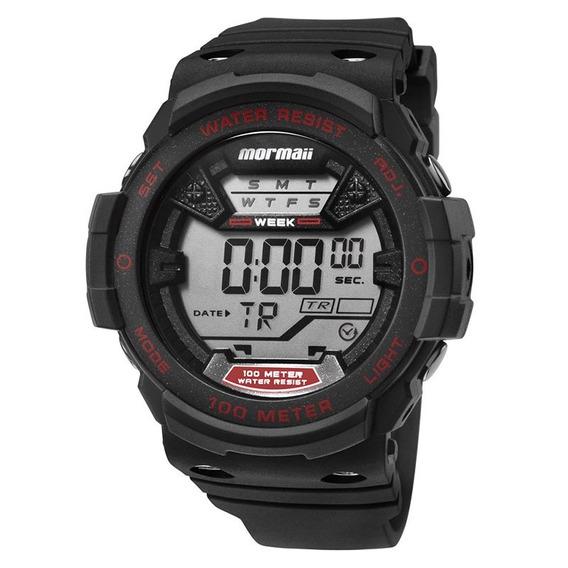 Relógio Mormaii Digital Wave Mo3500a8r Preto/vermelho