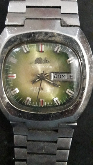 Relógio Mido Automático, Caixa Pulseira Em Aço, Para Reparo