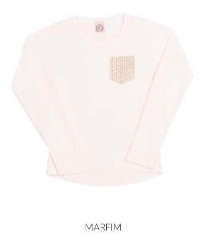 Roupa Infantil - Camiseta Inverno Menina 101040 Tamanho 12