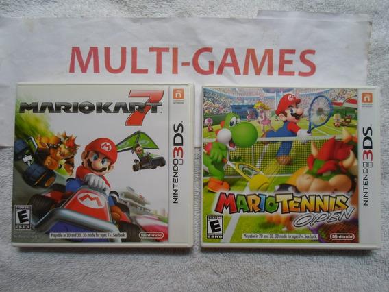 Mario Kart 7 + Mario Tennis Open Para Nintendo 3ds.