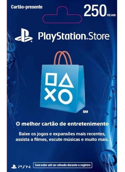 Cartão Psn Brasileira R$250 Cartão Ps4 Brasil Envio Imediato