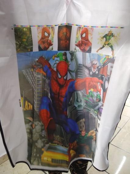 Capa Infantil Para Corte De Cabello Animada Spiderman