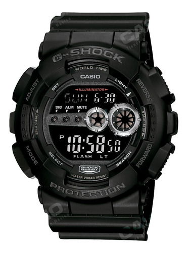 Reloj Casio G-shock Youth Gd-100-1b Analógico Negro