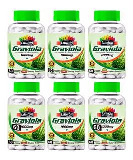6 Graviola 1000mg - 360 Comprimidos - Lauton - Frete Grátis