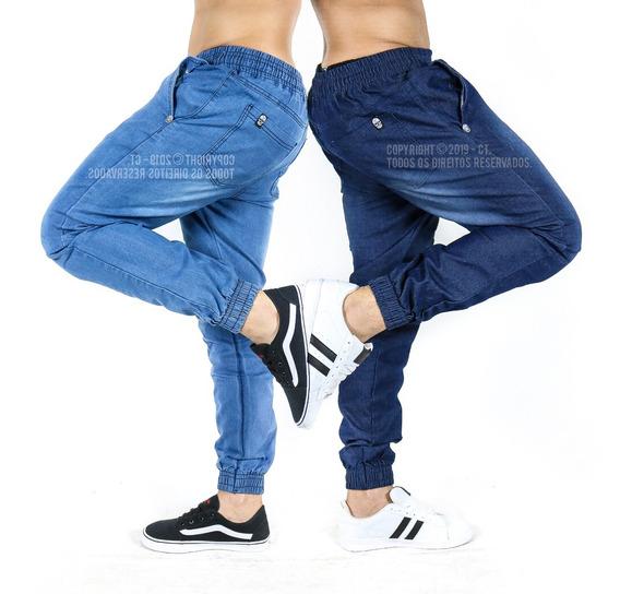 Kit 2 Calça Masculina Jeans Jogger Sarja Pronta Entrega