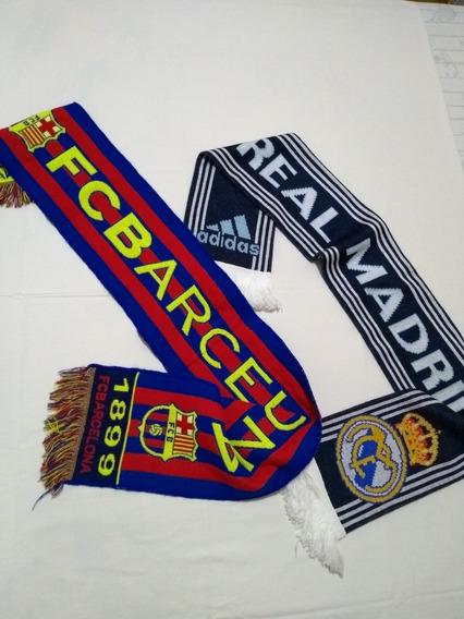Bufandas Originales Clubes De Fútbol, Combo 2x1