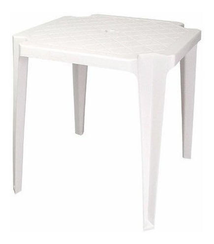 Mesa Plástica Branca Empilha.antares  26219
