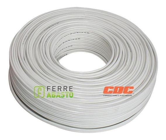 Cable Pot Duplex Cal 14 Blanco 100m Antiflama 100% Cobre Cdc