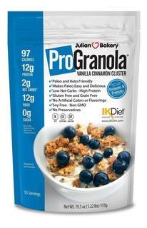 Progranola 0.42oz Proteína Cereal Vainilla Cina (paleo : Ca