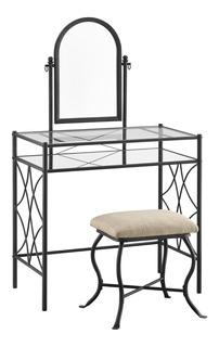 Mueble Tocador Moderno Con Espejo Y Taburete Lattice
