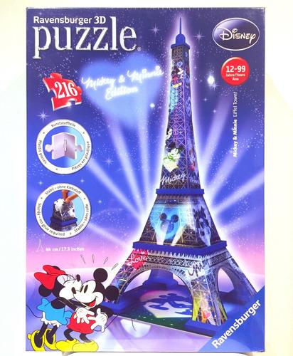 Rompecabezas 3d Torre De Paris Disney Mickey Y Minnie