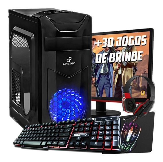 Pc Gamer Intel I3 3.1+memória Ram 8gb+gtx 1050 Ti 4gb+hd 1tb