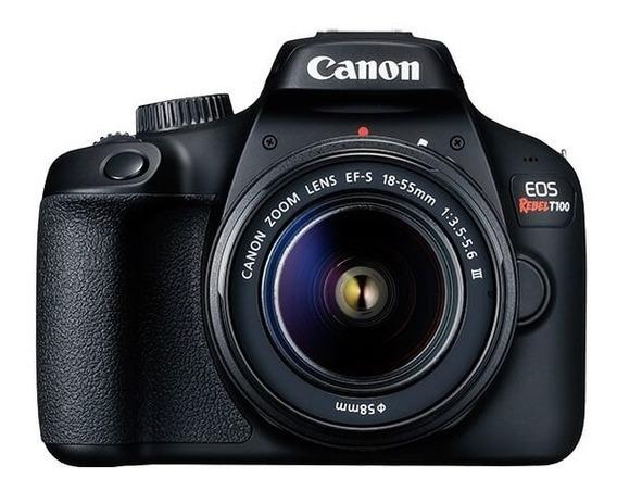 Câmera Canon Eos Rebel T100 Com Lente Ef-s 18-55mm Iii