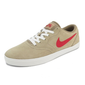 Tênis Nike Sb Check Khaki/red