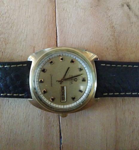 Relógio Pulso Clássico Suiço Omega Masculin Em Ouro Amar 18k