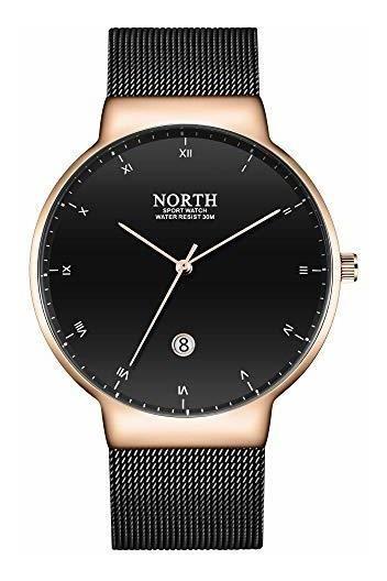 North Hombres Minimalista Ultra Delgado Reloj Casual Reloj D
