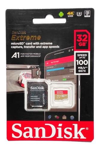 Imagem 1 de 4 de Cartão De Memória Sandisk Extreme 4k Uhd 32gb 100 Mb/s Nf