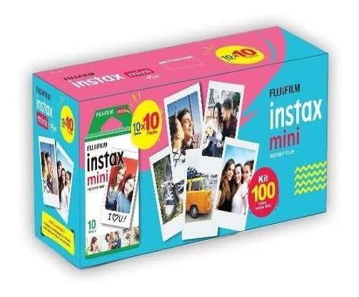 Filme Instax Mini Com 100 Poses Nova Embalagem