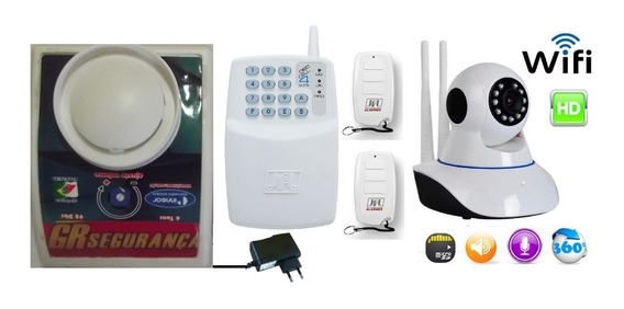 Cuidador Idoso Botão Pânico C/ Discadora Gsm E Câmera Wi Fi