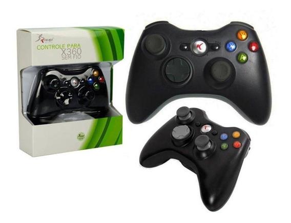 Controle Xbox 360 Sem Fio Kp-5122 Novo - Preto