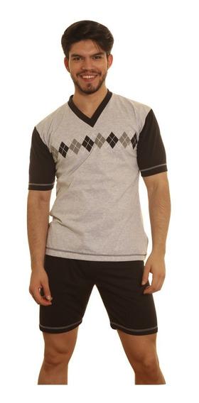 Pijama Hombre Jersey Con Estampa 100% Algodon Cuotas