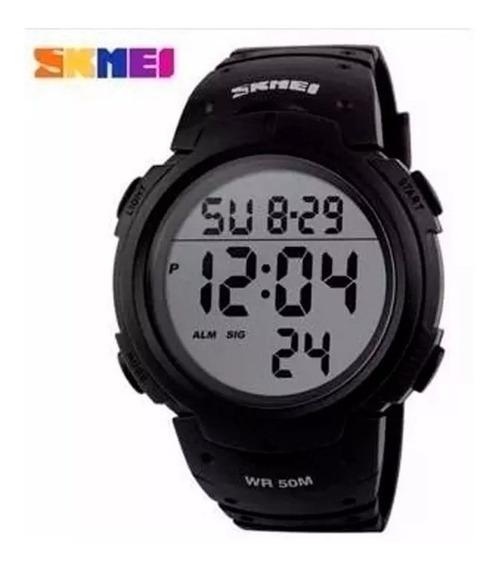 Relógio Esportivo Preto Skmei Original Digital Prova Aguá