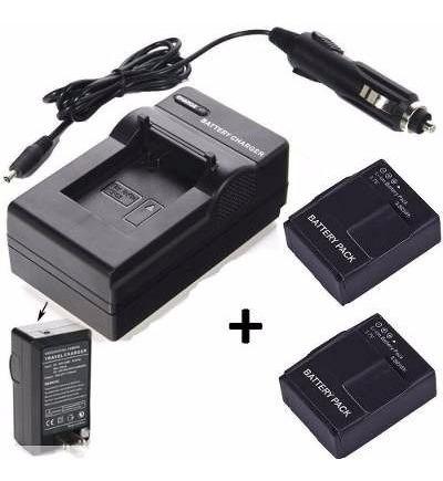 Carregador De Bateria Parede Veicular+2 Baterias Go Pro 3+
